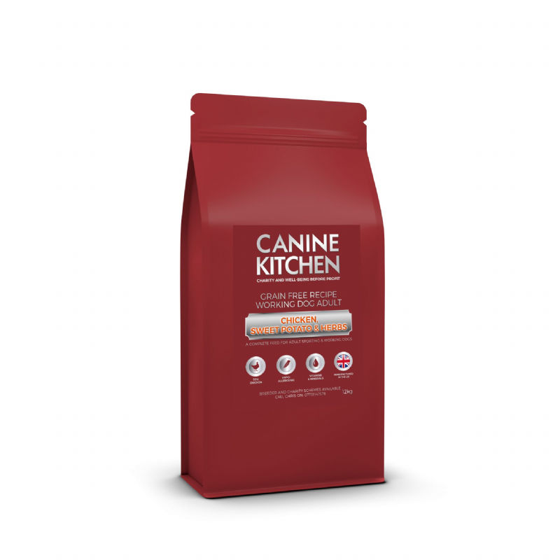 ADULT - 55% Chicken - 31% FRESH - GRAIN FREE - NO VAT Working Dog - 12/5 kg